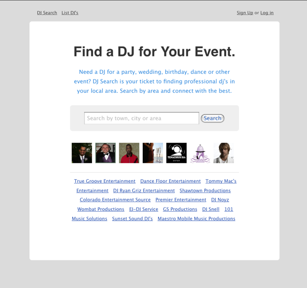 Rails Development Project, Dj-Search